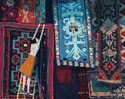 venditore di tappeti tappeto cinese deco nichols antico 1950 272x180 cm