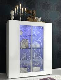 White Sideboard With Glass Doors Trendy Products Basics Range Contemporary Furniture
