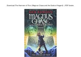 download the hammer of thor magnus chase and the gods of asgard