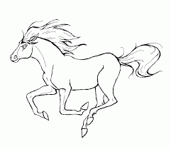 free coloring pages for horses coloring home