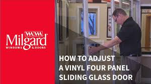 sliding glass doors san diego how to adjust a vinyl four panel sliding glass door youtube