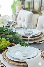 Easter Table Setting Vegetable Patch Easter Table Kelley Nan