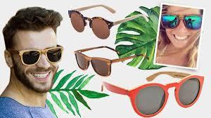 cadeau en bois pour femme lunettes de soleil en bois accessoires mode homme femme eté 2017