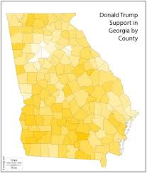 shades of orange the georgia counties that had the most support for donald trump
