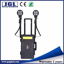 portable outdoor sports lighting 80w portable rechargeable led light tower industrial light stand
