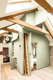 attic storage kitchen farmhouse with skylight honed multiuse tiles