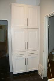 Wood Kitchen Storage Cabinets Mesmerizing White Color Wooden Kitchen Pantry Cabinets Come With