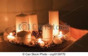 composizione di candele massaggio candele composizione lits fotografia d archivio