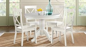 brynwood white 5 pc round dining set dining room sets colors