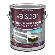 shop valspar light gray satin interior exterior anti skid porch