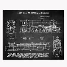 free blueprints for homes promotion shop promotional chalkboard art vintage locmotive blueprint canvas painitng giclee home decor wall pictures for living room unframed