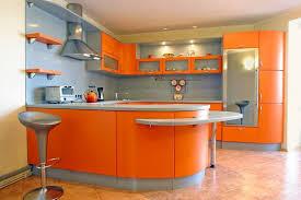 cuisine orange et gris cuisine orange et gris herrlich mur de cuisine un en brique c est