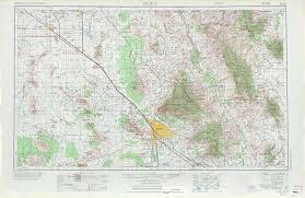 Road Map Arizona by Tucson Topographic Maps Az Usgs Topo Quad 32110a1 At 1 250 000