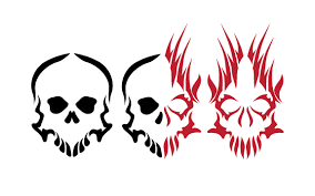good and evil tribal skulls by demonking aka grim on deviantart