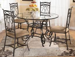 Dining Room Sets With Glass Table Tops Glass Dining Table With Four Chairs By Signature