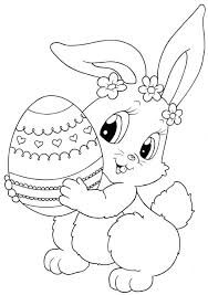 easter bunny coloring pages preschoolers playing free