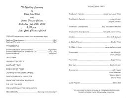 wedding program formats wedding program templates wedding programs fast