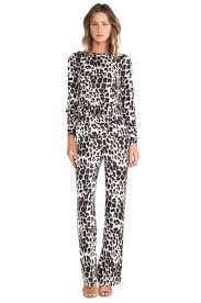 cheetah jumpsuit diane furstenberg cynthia jumpsuit in cheetah large revolve