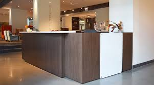 National Waveworks Reception Desk Pizazz Product Modifications National Office Furniture