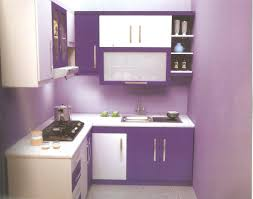 purple and white kitchen home design ideas