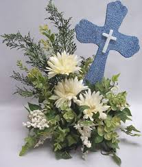 Centerpieces For Boy Baptism by First Communion Floral Centerpieces 1st Communion Baptism White