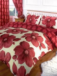 Sanderson Duvet Covers And Curtains Single Bed Large Red Poppy Print Bedding Duvet Quilt Cover Set