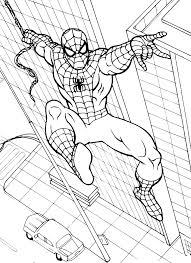 spiderman picture coloring