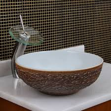 elite 1567 round white glaze porcelain ceramic bathroom vessel