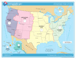 maps of united state time in the united states