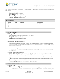 project scope statement template v2 3
