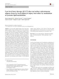 the nuts and bolts of low level laser light therapy low level light therapy lllt for pdf download available