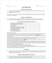 business loan agreement template loan agreement template 11 free
