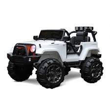 jeep open xtreme 12v ride on suv jeep in white with open doors xtreme toys