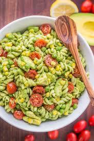 pasta slad creamy avocado pasta salad natashaskitchen com