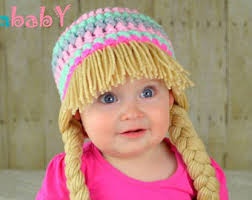 Cabbage Patch Halloween Costume Baby Cabbage Patch Hat Pigtail Wig Costume Photo Props Halloween