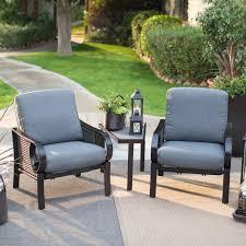 Patio Furniture Conversation Set - belham living langdon all weather wicker chat set 3 piece set