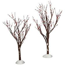 department 56 snow trees set of 3