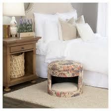 homepop decorative round hideaway ottoman dog bed target