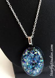 black opal necklace images Black opal necklace by starflystudios handmade faux opal made of jpg