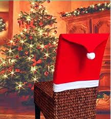 Snowman Chair Covers Amazon Com Lihao 4 Pieces Snowman Chair Back Covers For Christmas