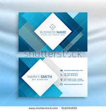Abstract Business Cards Abstract Low Poly Business Card Design Stock Vector 307608623