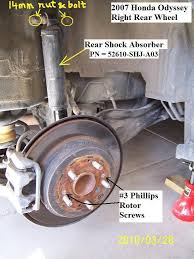 2007 honda accord rotors diy 2007 honda odyssey front brake rotor
