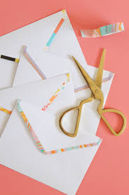 diy washi tape lined envelopes club crafted