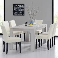 Esszimmer St Le Designklassiker En Casa Esstisch 160x90 Eiche Weiss 6 Stühle Creme Esszimmer