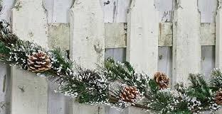 frosted pine snow and pine cone garland florals