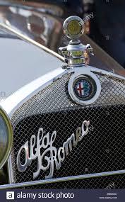vintage alfa romeo logo alfa romeo badge on classic alfa romeo at owners club rally stock