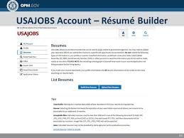 Usajobs Online Resume Builder by Finding And Applying For Jobs In The Federal Government 1 U S