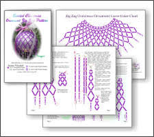 zig zag purple ornament beading patterns and kits by
