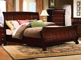 Oak Sleigh Bed Queen Size Sleigh Bed The Wide Bed Furniture Home Decor And