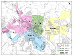 Truck Route Maps Trash Collection Milford De Official Website